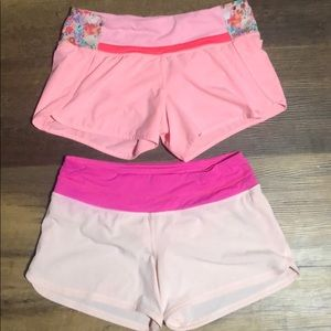 Lululemon shorts bundle both size 6